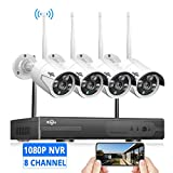 Best Indoor Wifi Antennas - [8CH Expandable] Hiseeu 1080P Wireless Security Camera System Review