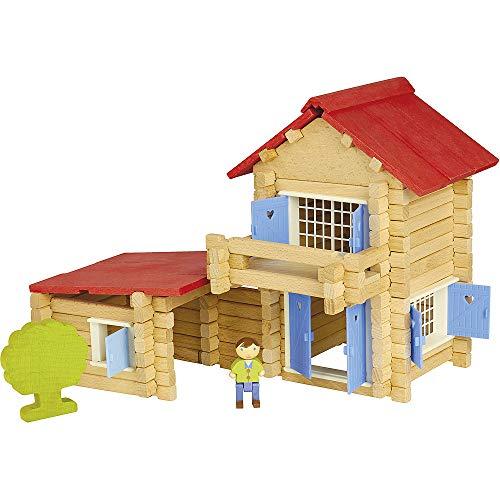 Jeujura - 8033- Jeux de Construction-la Maison en Bois - 140 Pieces