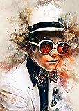 BINGSHUAI Elton John Poster Dekoration Gemälde Ölgemälde