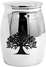 LIOOBO Cremation Urn Ashes Funeral Burial Urns Jar for Animal Lovers Pet Dogs Commemorative Casket Stainless Steel Opening The Tree of Life Urn Container 1pc