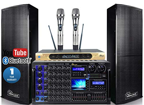 Great Features Of IDOLpro IPS-DELUXE I 1500W Premium Floor Standing speakers & Mixing Amplifier & Du...