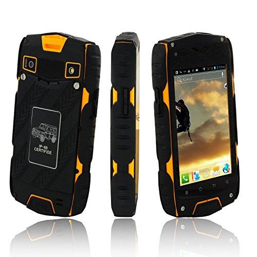 Z6+ IP68impermeabile 4.0Inch Smartphone MTK6582Quad Core 1G + 16GB GPS 3G WCDMA cellulare Giallo