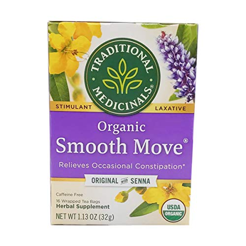 Traditional Medicinals Organic Smooth Move Herbal Stimulant Laxative Wrapped Tea Bags, 16 Count (Pack of 1)