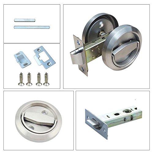 738ef5081136 Stainless Steel 304 Corridor Locks Doorknobs Cabinet Furniture Hidden  Recessed Cup Install Privacy Sliding Door Lock
