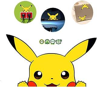 2pcs Anime Pikachu Sleeping Vinyl Stickers Decal Decorative Art Decor for Cars