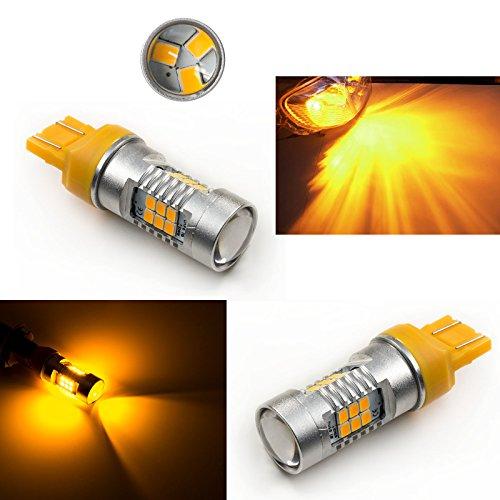 PA 2 x 2835 21 LED SMD T20 7443 7440 Jaune Ambre direction Tour Signal ampoule