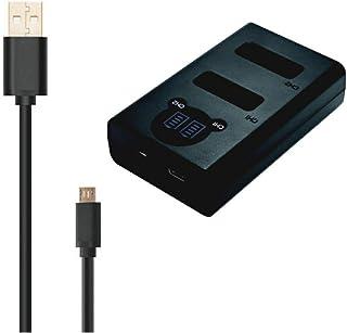 WELLSKY NP-W126 NP-W126S 用 [ デュアル ] USB Type-C 急速 互換充電器 バッテリーチャージャー BC-W126 BC-W126S [ 純正 互換バッテリー共に対応 ] 富士フィルム FUJIFILM X1...