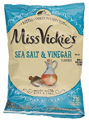 Miss Vickie's Kettle Cooked Potato Chips, Sea Salt & Vinegar, 1.375 oz