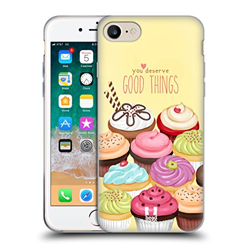 Head Case Designs Assortimento Cupcake di Felicità Cover in Morbido Gel Compatibile con Apple iPhone 7 / iPhone 8 / iPhone SE 2020