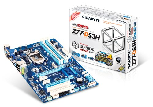 Gigabyte GBT GA-Z77-DS3H Mainboard Sockel 1155 Z77 4X DDR3 Speicher ATX