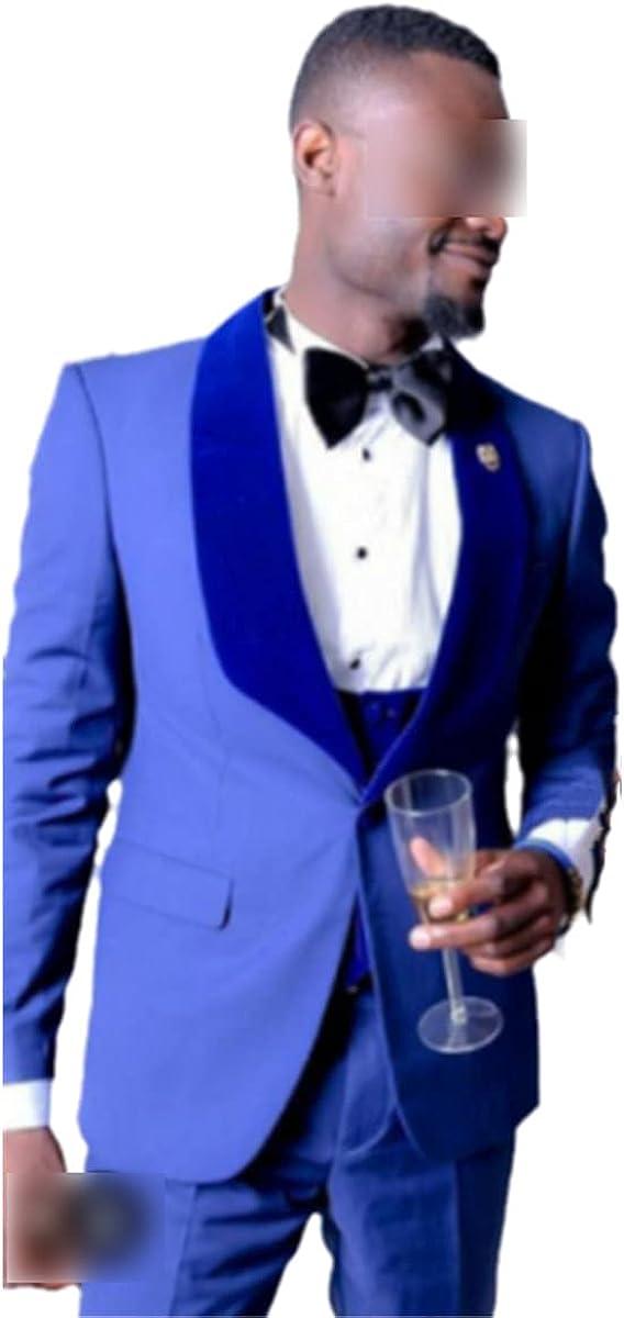 CACLSL Men's Suit Groom Tuxedo Shawl Lapel Best Man Wedding Best Man Jacket + Pants + Bow tie + Vest