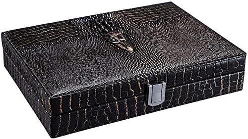 GAOYINMEI Humidor Travel Cigar Humidor Caja de Almacenamiento de cigarros Caja de Cuero de Cuero con higrómetro humidificador Accesorio