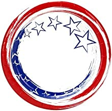 Nicole Home Collection Stars N' Stripes Paper Plates, 7-Inch