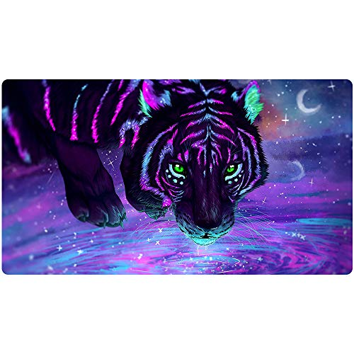 Beymemat XXL Large Gaming Mouse Pad (35.4x15.7 in), Non-Slip Rubber Base Mousepad with Stitched Edges for Work & Game (90x40 laohu003)