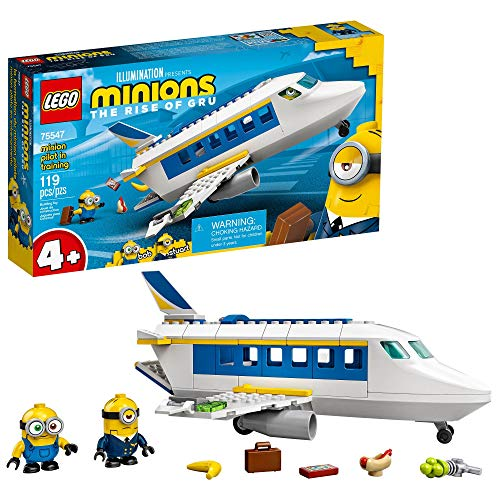 LEGO Minions: Minion Pilot in Training (75547) Toy Plane Building Kit for Kids, a Great Present for Kids Who Love Minions Toys and Minion Figures, New 2021 (119 Pieces)
