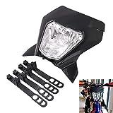 AnXin - Faro delantero para motocicleta, luz LED de calle, universal, para 12 V, 35 W, Enduro Supermoto