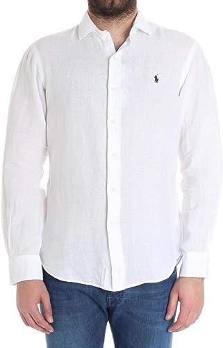 Ralph Lauren Homme 710695930005 Blanc Coton Chemise