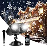 ALOVECO Christmas Snowflake Projector Lights Outdoor, Upgrade Rotating LED...