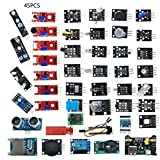 Nihlsfen 45 unids/Set Arduino Compatible con Sensor eléctrico para módulos de Sensor R3 Kit de Inicio Herramientas electrónicas DIY para Principiantes