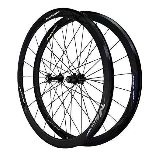 VPPV Ruedas de Bicicleta de Carreras 700C, Aleación de Aluminio Freno En V Ruedas de Ciclismo Altura 40MM 24 Hoyos Soporte 7/8/9/10/11 Rueda