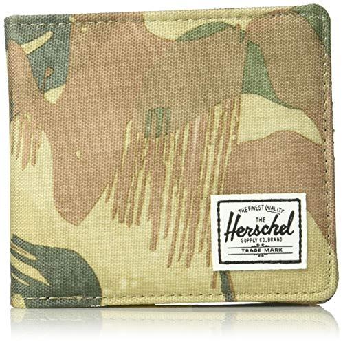 Herschel Unisex-Erwachsene Hans Coin XL RFID Zweifalten-Geldbörse, Brushstroke Camo, X-Large