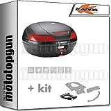 kappa maleta k49n 47 lt + portaequipaje monokey compatible con kymco downtown abs 125 350 i 2020 20
