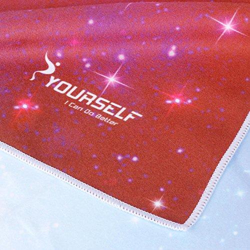 Syourself超極細繊維ヨガタオル-183cmx61cmヨガ、フィットネス、トレーニング、アウトドアスポーツ、旅行に使用可能、滑り止め、快適、ソフト、超汗取りの高温ヨガタオル+便利な旅行バッグ(JL紫い星空61cmx183cm,1枚)