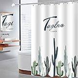 CXL Wasserdichter Duschvorhang aus Polyester, verdickter &urchsichtiger Duschvorhang mit Duschvorhang