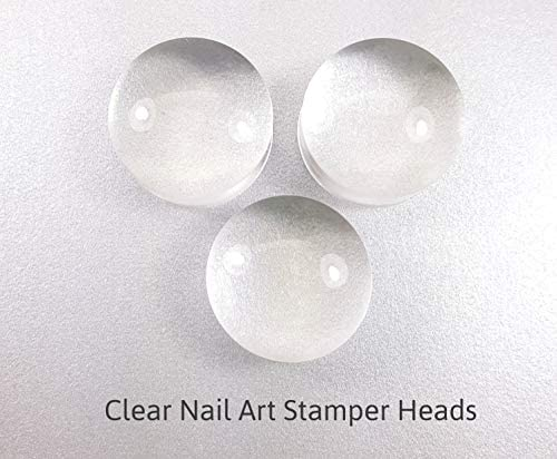 Clear Nail Art Stamper Stamping Soft Squishy Stamping Heads Clear Jelly Stamper Stamping DIY product image