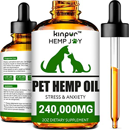 Natural Hemp Oil for Dogs & Cats - 240,000mg - Pet Hemp Oil - Supports...