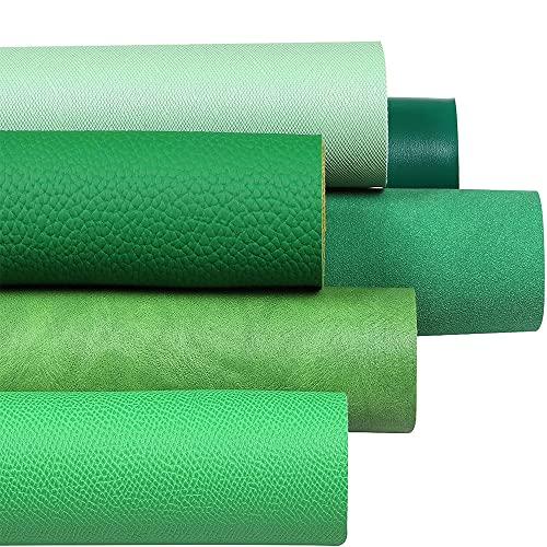 Jonoisax 6 Pezzi di Serie Mista in Pelle Artificiale con Paillettes in Tessuto in Pelle Artificiale Usato per Realizzare Borse Artigianali Cucito Fai da Te Vari Colori,F