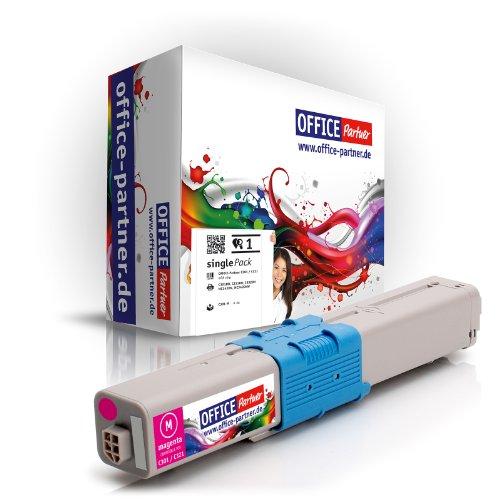 OFFICE-Partner Toner kompatibel zu Oki C301 / C321 M (Magenta) für Oki C301DN C321DN MC332DN MC342DN MC342DNW