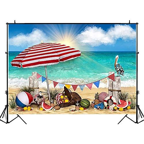Estate Mare Fondali Fotografia RV Decorazione Bambini Compleanno Puntelli Foto Spiaggia di Sabbia Stella Marina Foto Sfondo A4 10x7ft 3x2.2m