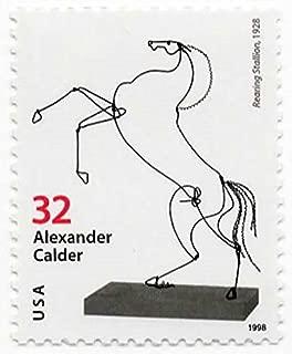 USA Postage Stamp Single 1998 Rearing Stallion Alexander Calder Sculptor Issue 32 Cent Scott #3200