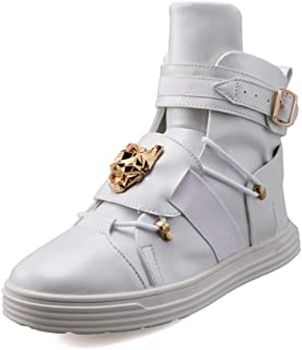 Men's Korean Style High Top Fashion Sneakers Basketball PU Leather Gym Training Running Stylish Casual Shoes Boots