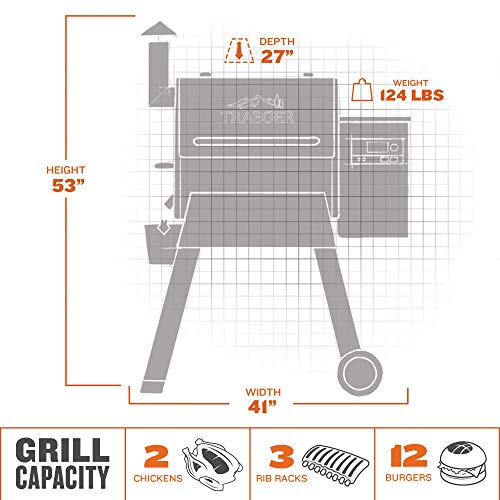Traeger Grills Pro Series 575 Wood Pellet Grill and Smoker, Bronze