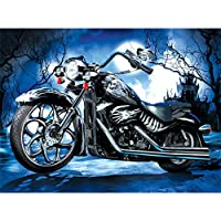 Daeum オートバイdiy 5dフルドリルダイヤモンド絵画刺繍クロスステッチキットラインストーンモザイク家の装飾クラフト,30*40cm