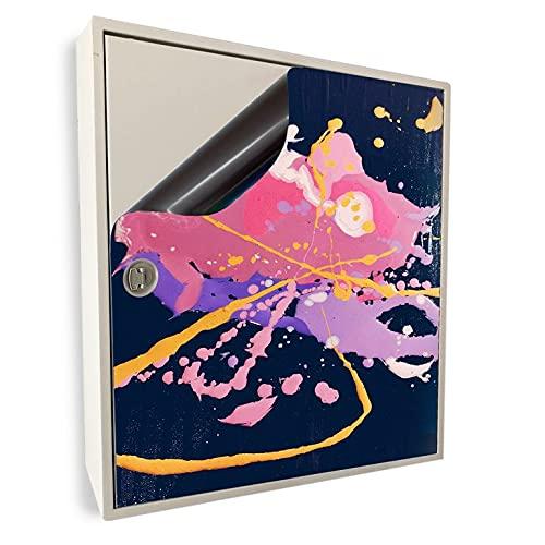 Smagnon Caja de distribución magnética con imagen decorativa y caja de fusibles, diseño de salpicadura de colores, altura de la caja eléctrica: 85 cm, ancho de la caja eléctrica: 40 cm