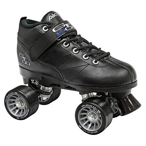 Pacer Black Mach-5 GTX500 Quad Speed Roller Skates