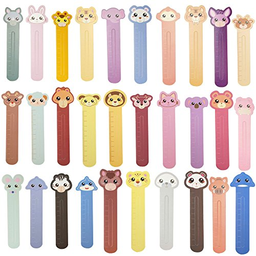 Cute Cool Animal Paper Reading School Bookmarks for Kids Girls Teens Packs of 30 by CSPRING