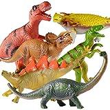 Huge Dinosaur Toys, 6PCS Jumbo Dinosaur Set - Realistic Looking Big Dinosaur Figures,Including Jurassic T-Rex Velociraptor Triceratops Stegosaurus Brachiosaurus Ankylosaurus for Boys Girls