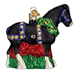 Old World Christmas Glass Blown Ornament Black Clydesdale (12477)