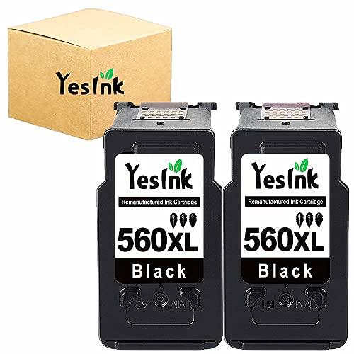 Cartucho de tinta PG-560XL de repuesto para Canon 560 XL PG 560 PG-560 para Canon Pixma TS5350 TS7450 TS5351 TS5352 TS5353 TS7451 (2 negros)