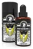 Huile à barbe Spartan Beard Co | 7 huiles essentielles haut de gamme pour la santé de la barbe, du visage et de la peau | Soin et sérum de croissance pour barbe | Rejoignez l'élite des soins pour barbe.