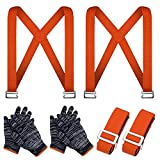 Correas para Levantar Muebles - Mover Sistema de Movimiento para 2 Personas Mueve Objetos con Peso de hasta 300kg, Mover, Levantar, Transportar y Asegurar Muebles, Electrodomésticos y Objetos Pesados