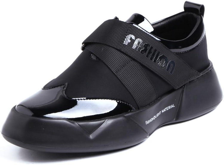 Men Oxfords Casual shoes Men's Brogue Flats shoes 100% Patent Leather Large Derbies shoes Black