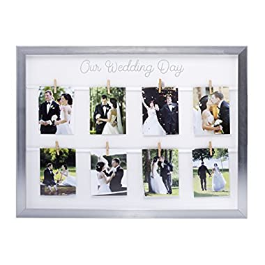Kate & Milo Keepsake 'Our Wedding Day' Picture Frame, Silver