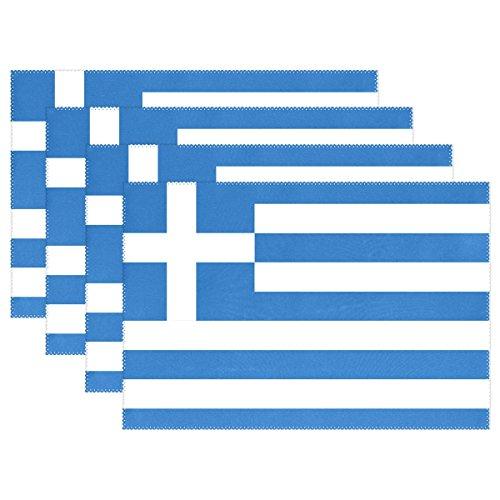 LIANCHENYI Flagge der Griechischen hitzebeständig Platzsets, Polyester Platzset Tischset für Küche Esszimmer 1Stück