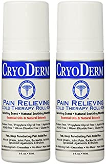 Cryoderm Pain Relieving Roll On 3 oz 2 PACK