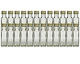 hocz Glasflaschen Set mit Schraubverschluss Gold   Füllmenge 100 ml   Maras Saftflaschen Spirituosen Likörflaschen Setzen Sie ganz einfach Ihr eigenes Öl an (24 Stück) -